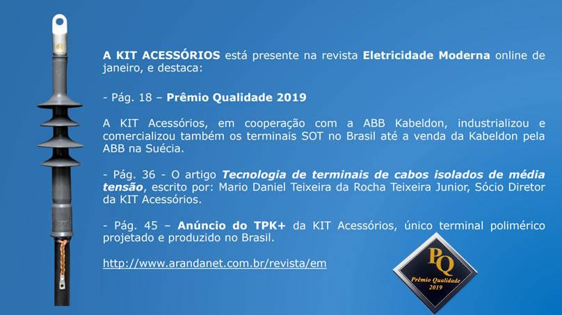 Prêmio Qualidade 2019 – Revista Eletricidade Moderna